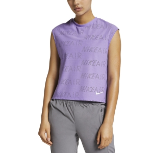 Women's Running T-Shirts Nike Air TShirt  Light Violet/White AT7972567
