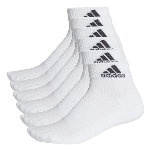 Calze Running Adidas 3 Stripes Ankle x 6 Socks  White AA2288