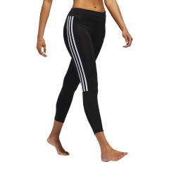 Adidas Run 3 Stripes 7/8 Tights - Black/White