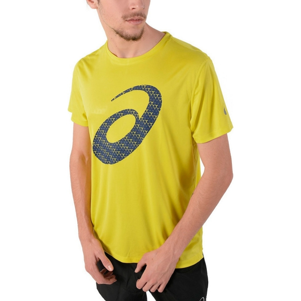 Asics Shirts Running Silver Mens Singlet Yellow 8knOPX0w