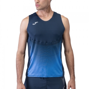 Men's Running Sleeveless Joma Elite VI Canotta  Dark Navy/Royal 100950.307