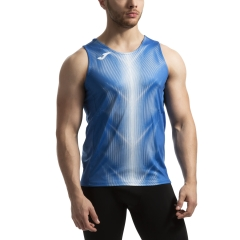 Joma Olimpia Graphic Tank - Royal/White