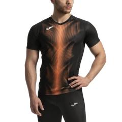 Joma Olimpia Graphic Maglietta - Black/Orange