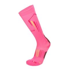 Mico Oxi-Jet Medium Socks - Fluo Pink/Black