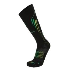 Mico Oxi-Jet Medium Socks - Black/Green