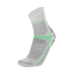 Mico Coolmax Trek Socks - Grigio Melange/Verde Fluo