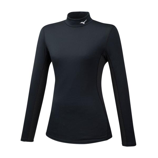 Mizuno Mid Weight High Neck Shirt - Black