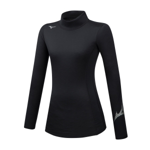 Mizuno Virtual Body G2 High Neck Shirt - Black