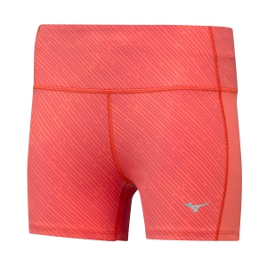 Pantaloncini Running Donna Mizuno Impulse Printed 3in Shorts  Coral J2GB925056