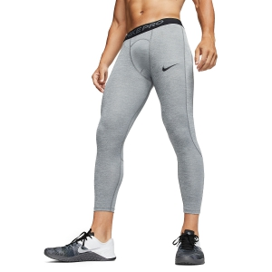 Medias Intimas Hombre Nike Pro Swoosh 3/4 Tights  Smoke Grey/Lt Smoke Grey/Black BV5643085