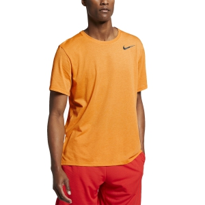 Men's Running T-Shirt Nike Breathe TShirt  Orange/Black AJ8002833
