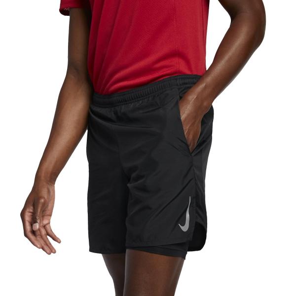 f284248e17 Nike Challenger 2 in 1 Pantaloncini da Running Uomo - Nero