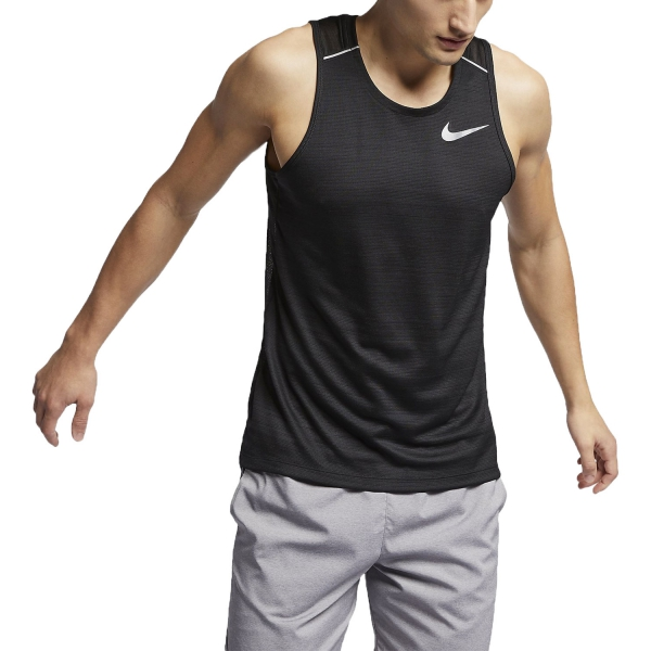 0fcc8d1a27b6 Nike Dry Miler Canotta da Running Uomo - Nero