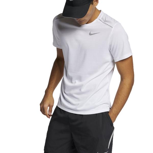 204cdd5b Nike Dry Miler Men's Running T-Shirt - White
