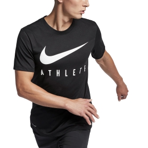 Men's Sportswear T-Shirt and Polo Nike Dry TShirt  Black/White BQ7539010