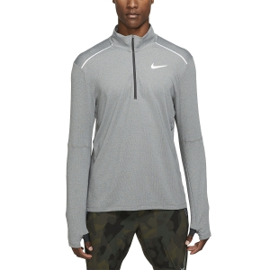 Men's Running Shirt Nike Element Crew 3.0 1/2 Zip Shirt  Dk Smoke Grey/Htr/Reflective Silv BV4721068
