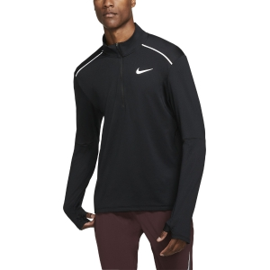 Men's Running Shirt Nike Element Crew 3.0 1/2 Zip Shirt  Black/Reflective Silver BV4721010