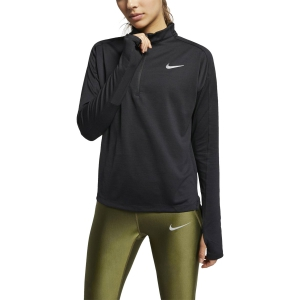 Women's Running Shirt Nike Pacer Half Zip Shirt  Black 928613010