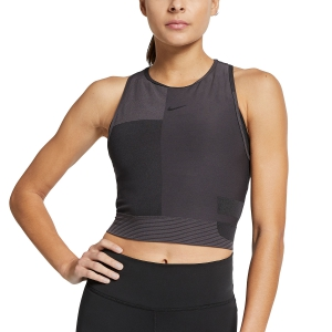 Women's Running Tank Top Nike Pro HyperCool Tech Pack  Tank  Dark Grey/Black AR6706080
