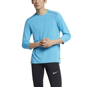 Men's Running Shirt Nike Rise 365 Tech Pack Shirt  Blue AJ7977433