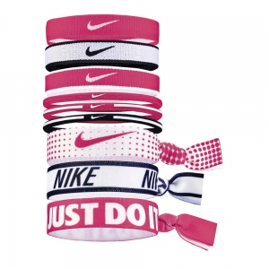 Fasce Nike Mixed Ponytail Holder x 9  Pink/White/Black N.JN.K8.986.OS