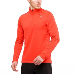 Salomon Grid Mid Maglia - Fiery Red