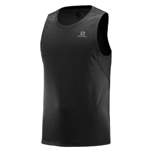 Men's Running Sleeveless Salomon Agile Tank  Black LC1035900