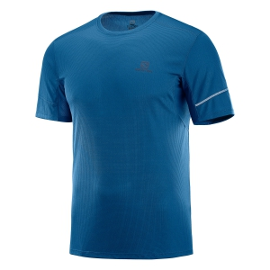 Men's Running T-Shirt Salomon Agile TShirt  Petrol LC1099900