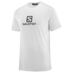 Salomon Coton Logo T-Shirt - White/Grey