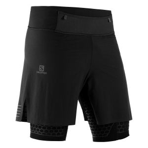 Men's Running Short Salomon Exo Twinskin 2 in 1 Shorts  Black LC1046000
