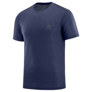 Men's Running T-Shirt Salomon Explore TShirt  Navy LC1074200