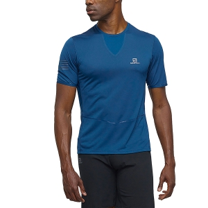 Men's Running T-Shirt Salomon Sense Ultra TShirt  Petrol LC1072900