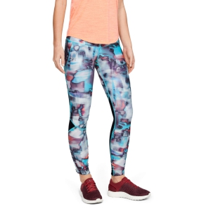 Women's Running Tight Under Armour Fly Fast Printed Tights  Black/Breathtaking Blue/Hyper Blur 13203230011