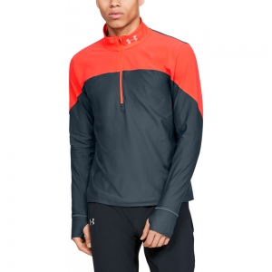 Men's Running Shirt Under Armour Qualifier Half Zip Shirt  Wire/Beta Red 13265950073