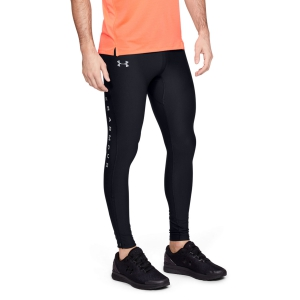 Men's Running Tights Under Armour Qualifier HeatGear Glare Tights  Black 13293550002
