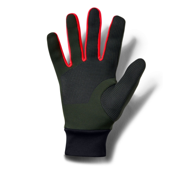Green Under Armour Storm Liner Running Gloves