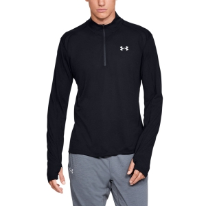 Men's Running Shirt Under Armour Streaker 2.0 Half Zip Shirt  Black 13265850001