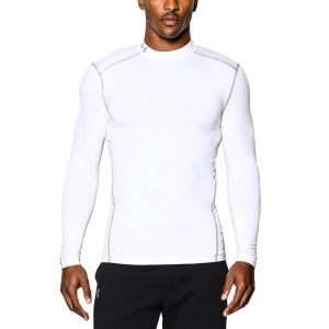 Men's Running Shirt Under Armour ColdGear Compression Mock Shirt  White 12656480100