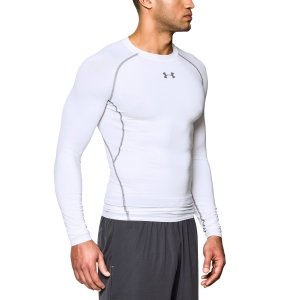 Men's Shirts Sport Underwear Under Armour HeatGear Armour Compression Shirt  White 12574710100
