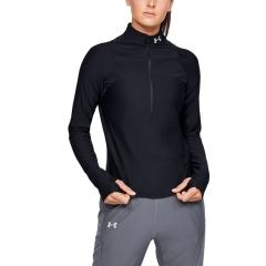 Under Armour Qualifier Half Zip Shirt - Black