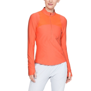 Women's Running Shirt Under Armour Qualifier Half Zip Shirt  Coral Dust 13265120642