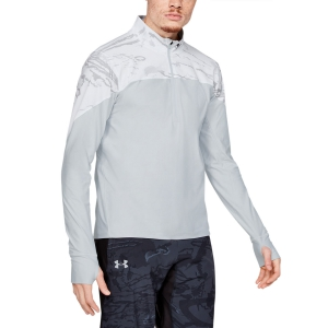 Men's Running Shirt Under Armour Qualifier Camo Half Zip Shirt  Snow Camo 13472630992