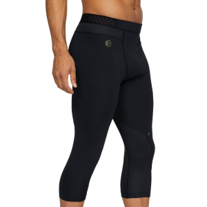 Pant Running Uomo Under Armour Rush 3/4 Tights  Black 13276470001