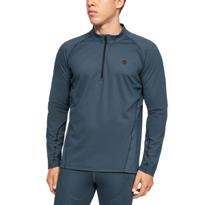 Men's Running Shirt Under Armour Rush Run ColdGear Half Zip Shirt  Wire 13429730073
