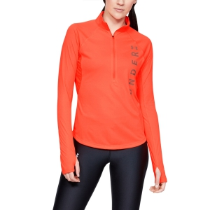 Women's Running Shirt Under Armour Speed Stride Split Wordmark Shirt  Peach Plasma/Coral Dust 13427780836