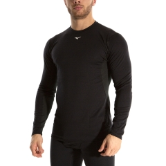 Mizuno Mid Weight Crew Shirt - Black