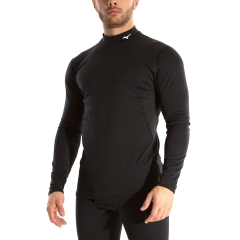 Mizuno Mid Weight High Neck Shirt - Black
