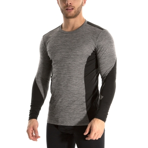 Men's Shirts Sport Underwear Mizuno Virtual Body G2 Crew Shirt  HeatherGrey/Black A2GA850507