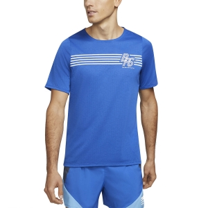 Camisetas Running Hombre Nike Rise 365 Graphic BRS Camiseta  Game Royal/Reflective Silver DA1422480