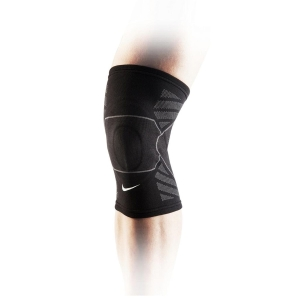 Supporti Sport Nike Advantage Knitted Rodillera  Black/Grey N.MS.76.031